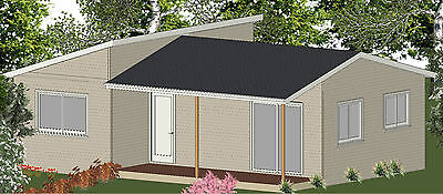 AU32805 • Buy 2 Bedroom DIY Granny Flat Kit - The Cabin 60m2 On Gal Chassis - CGI Wall Sheets