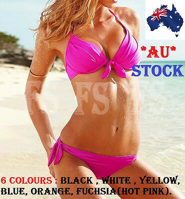 AU17.45 • Buy Sexy Women Bandage Triangle Bikini Set Push Up Bra Padded Beach Swimwear