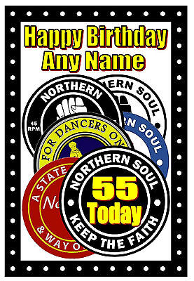 NORTHERN SOUL (PATCHES) - HAPPY 55th BIRTHDAY PERSONALISED CARD (ANY NAME / AGE) • 4.99£