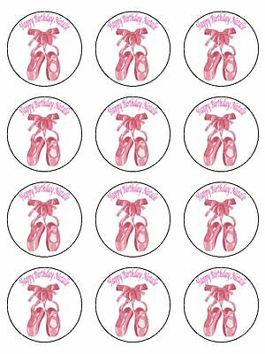 15 X 2  Ballet Dance Personalised Edible PRE CUTFONDANT ICING Cake Toppers • 3.50£