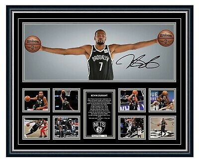 AU109.99 • Buy Kevin Durant Wings Brooklyn Nets Signed Photo Framed Limited Edition Memorabilia
