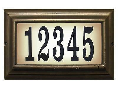 Edgewood, LTL-1301-FB, Large Lighted Address Sign In French Bronze • 127.94£