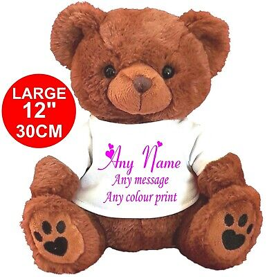 £11.99 • Buy Personalised Brown Teddy Bear 30cm/12   Flower Girl Any Occasion Bridesmaid Gift