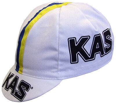 Kas Retro Vintage Cycling Team Summer Under Helmet Made In Italy Bike Hat Cap  • 7.99£