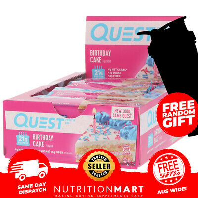 AU44.95 • Buy Quest Protein Bar - Box Of 12 - Yum!! - Low Carb Healthy Snack