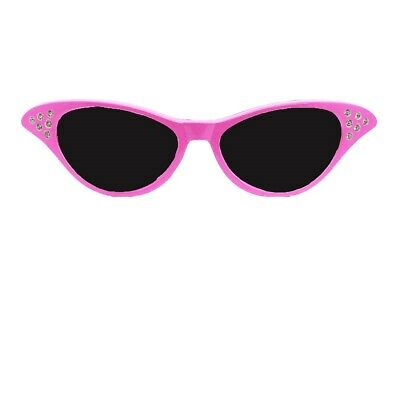 AU6.27 • Buy Ladies Pink Fancy Dress Glasses Sandy 50's 1950s Rock And Roll Costume