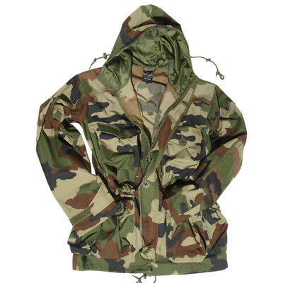 ce84ff6b2e8b9 Military Smock Combat Hooded Parka Long Mens Jacket French Army CCE Camo  S-3XL •