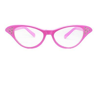 AU6.27 • Buy Ladies Pink Fancy Dress Glasses 50's 1950s Rock And Roll Costume