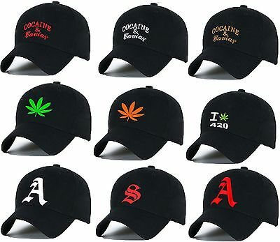 Casual  Baseball Cap Cocaine Caviar Ganja Weed Caps Adjustable Snapback Letter A • 7.99£