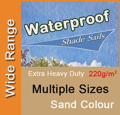 AU72.90 • Buy Heavy Duty Waterproof Shade Sail Sand Beige Cream Rain Triangle Square Rectangle