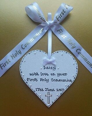 ** HANDMADE PERSONALISED First Holy Communion KEEPSAKE Plaque GIFT **GORGEOUS** • 4.99£