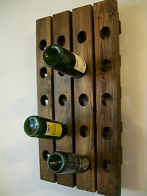 Riddling Wine Rack Wood Handmade Rustic French Country Wall Hanging  • 89.46£