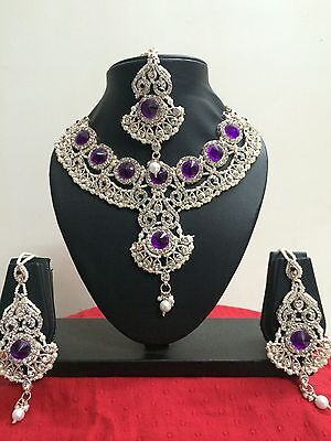 $25.89 • Buy Indian Designer Bollywood Bridal Fashion Jewelry Necklace Set