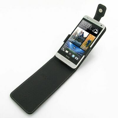 AU35 • Buy Pdair Leather Flip Top Type Case Carry Cover For HTC One Mini - Black