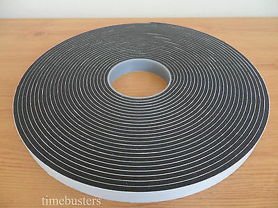 15m Black Double Sided Foam Tape Closed Cell 20mm Wide X 4.5mm Car/Glazing • 25.35£