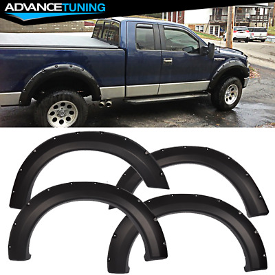$87.67 • Buy Fits 04-08 Ford F150 Pocket Rivet Style Matte Black Fender Flares 4PCS Set - PP