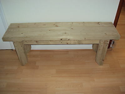 £70.50 • Buy Quality Handmade Garden-kitchen-Dining-utility Wooden Bench Sturdy And Solid 4FT