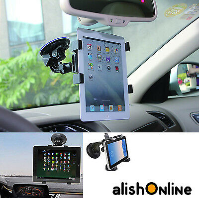 360 Rotate Windscreen Car Suction Mount Holder 6  To 11  For Tablet And IPad • 8.95£