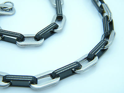 NECKLACE STAINLESS STEEL GREEK STYLE LINK CHAIN JEWELLERY  NECKLACE 01 • 6.99£