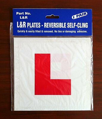 L Plate Learner Plates Self Cling Pair  • 2.99£