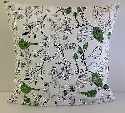 £4.99 • Buy Cushion Covers Made From Trendy Ikea Green Bird Fabric Green Leaves Trees