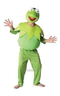 Kids Deluxe Kermit The Frog The Muppets Film Tv Boys Fancy Dress Costume Outfit • 15.45£
