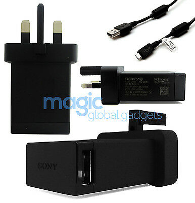 £2.99 • Buy 100% Genuine Official Sony Mains Charger & Usb Data Cable For Sony Xperia Phones