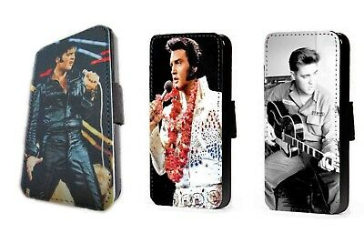 Elvis Presley Inspired Design Faux Leather Card Flip Phone Case IPhone Samsung • 11.20£
