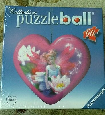 $7.99 • Buy Ravensburger Puzzle Ball Heart Fairy 60pcs 2009