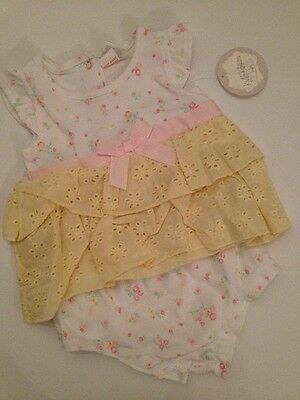 £7.20 • Buy Kyle & Deena Baby Girl Summer Outfit Set Size 3 6 9 Months Yellow Eyelet Dainty
