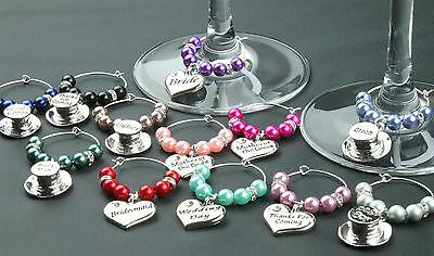 £1.33 • Buy Wine Glass Charms Wedding Table Decorations Favours - Col 1-6 - DIY