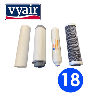 Vyair Replacement Water Filter Set Water Fed Pole Window Cleaning RO System (18) • 44.99£