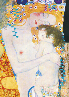 $ CDN7.32 • Buy Klimt - Mother And Child A4 Size 21x29.7cm QUALITY Canvas Print Poster Unframed