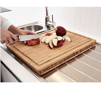 AU49.99 • Buy NEW IKEA Thick Bamboo Wooden Kitchen Chopping Cutting Board 45x36cm