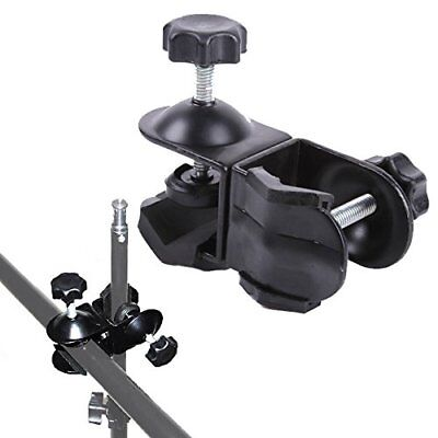 Phot-R Double Dual 2 C Clamp Clip Photo Studio Light Stand Boom Arm Reflector • 9.49£