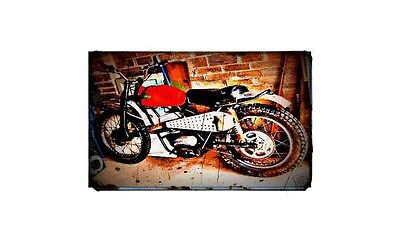1967 Cotton Bike Motorcycle A4 Retro Metal Sign Aluminium • 19.99£