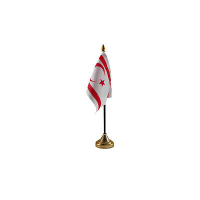 £2.99 • Buy North Cyprus Table Desk - Flag 10 X 15 Cm - National Country Hand Waving Europe