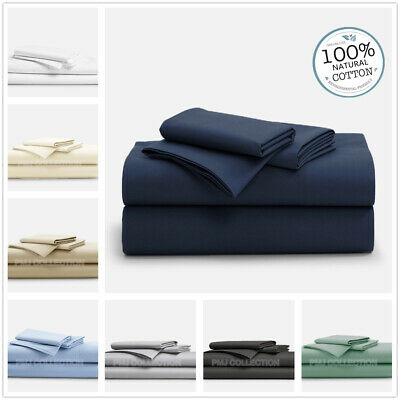 AU64.95 • Buy 1000TC100%Egyptian Cotton 4piece Fitted Flat Sheet Set In King Queen Double Size