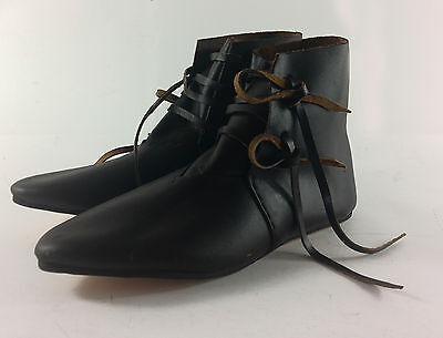 £55 • Buy Medieval Side Lacing Leather Ankle Boots Reenactment LARP Living History UKbased