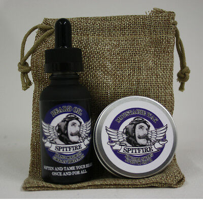 £8.99 • Buy Beard Oil & Moustache Wax Pocket Combo With Bag. 30ml Choice Of Scents