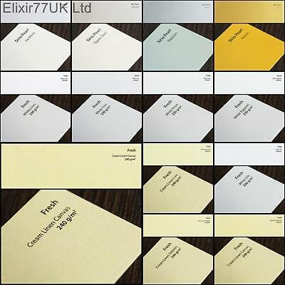 A4 Hammered Linen Matte Craft Card Paper White Ivory Pearl Pearlescent Gsm Sheet • 2.29£