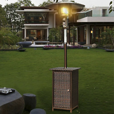 Outsunny 12kw Outdoor Garden Patio Gas Heater Rattan Wicker Free Standing BBQ • 114.99£