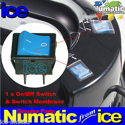 Genuine NUMATIC Blue On/Off Switch & Boot Charles CT 370 470 WV470 CTD570 WVD570 • 19.99£