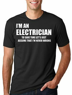 £10.86 • Buy Electrician T-Shirt Gift For Electrician Tee Shirt Profession Occupation Tee