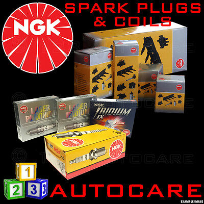 NGK Replacement Spark Plugs & Ignition Coil BPR6ES (7822) X4 & U1077 (48340) X1 • 43£