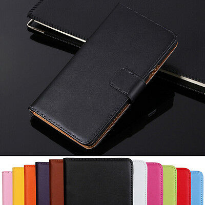 AU7.77 • Buy Genuine Leather Flip Wallet Case Cover For Sony Xperia Z1 Z2 Z3 Z5 XA2 XZ2 XZ3