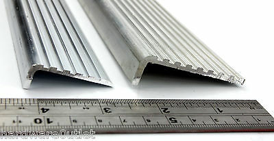 £5.23 • Buy ALUMINIUM Stair Nosing FLUTED ANGLE Anti Slip Edging For Stairs Steps