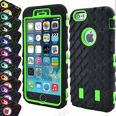 £4.48 • Buy Heavy Duty Tyre Shock Proof Rugged Builder Case Cover For IPhone 8 Plus 7 6s 5SE