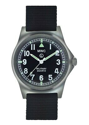 $ CDN123.53 • Buy MWC G10LM Military Watch | 50m | No Date | Screw Case Back | Black Strap