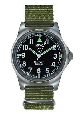 $ CDN127.93 • Buy MWC G10LM Military Watch | 50m | No Date | Screw Case Back | Olive Strap
